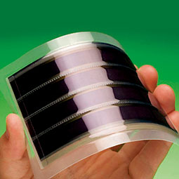 Dye-sensitized flexible solar cells. Courtesy G24i Ltd.