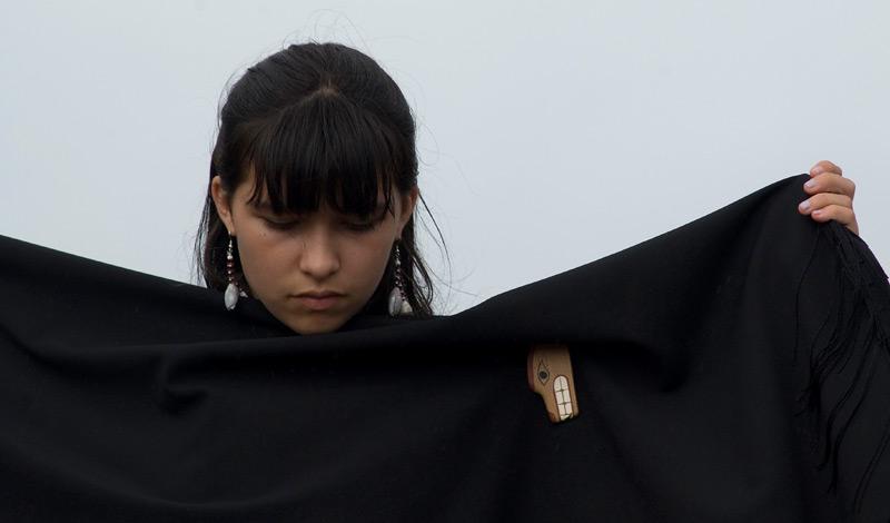 Young Makah tribal member.