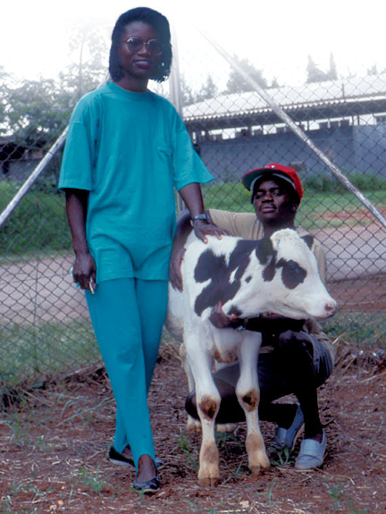 Tendai Ushe, who earned her master's degree with Terry McElwain, and Devere Munodzana, who earned his master's with Guy Palmer, participated in WSU's collaborative research efforts in Zimbabwe in the early 1990s. Photo courtesy WSU College of Veterinary Medicine.
