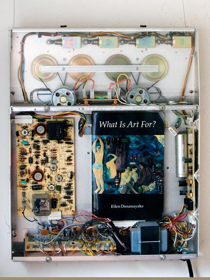 Assemblage by Anchorage artist Don Mohr constructed from an old Dictaphone, from an exhibition, What is Art for?