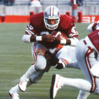 Mayes powers through a tackle in a game in Martin Stadium. Photo courtesy WSU Sports Information.