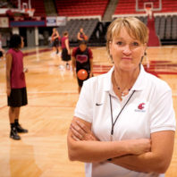June Daugherty, the WSU women's basketball coach, has turned the experience of a sudden cardiac arrest into an opportunity to educate Americans about the prevalence of SCA, especially among people who appear healthy and have no history of heart disease.