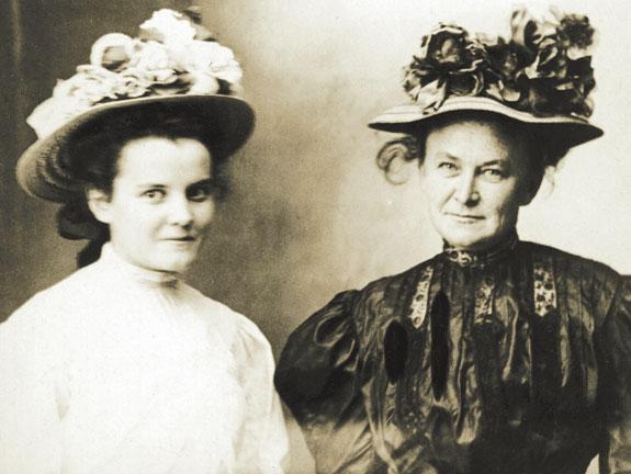 Xerpha and Mrs. Trantum, a friend.