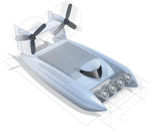 Fast boat illustration. Aaron Ashley.