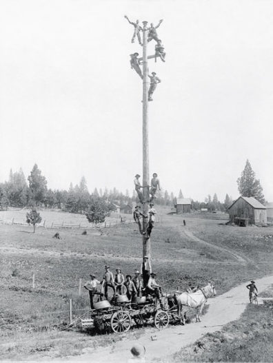 First power pole in Moscow, Idaho, area. Courtesy Avista