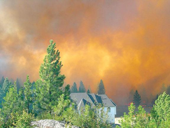 wildfire in Spokane County