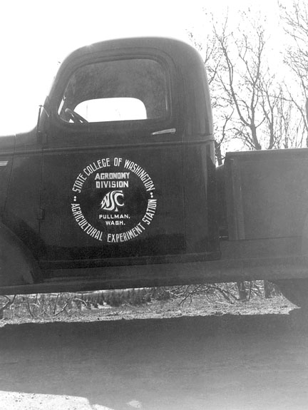 1st Coug logo on campus truck