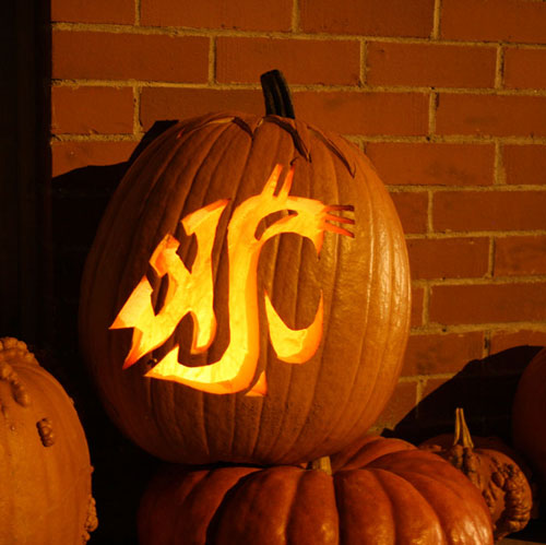 Coug-o-lantern, Fall 2011. Carved by Larry Clark '94