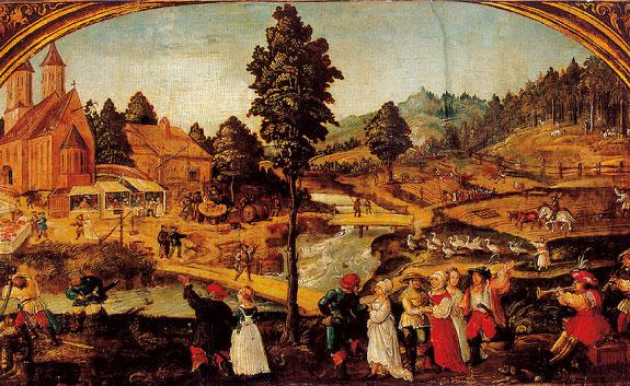 Village Fete by Hans Wertinger
