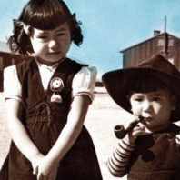 Internment camp children photo by Frank Hirahara