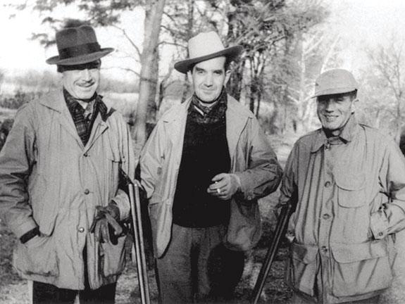 Edward R. Murrow, Lacey Murrow, and Dewey Murrow in 1949