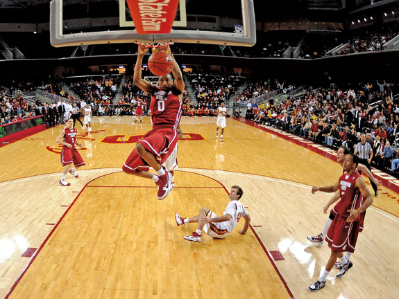 Marcus Capers dunks on the USC Trojans in 2010