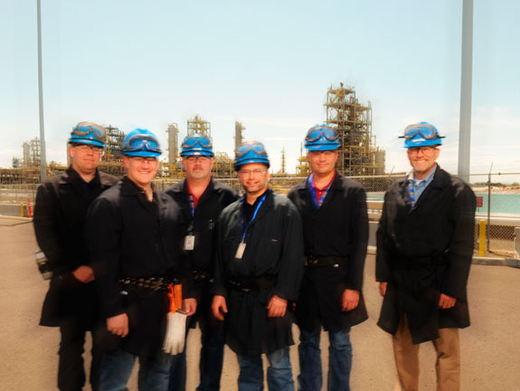 Engineers at Renewable Energy Corporation silicon plant in Moses Lake