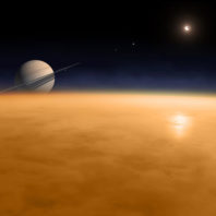 Illustration of Titan's atmosphere