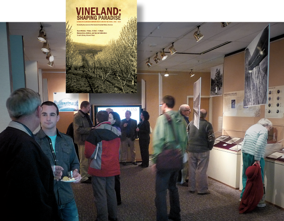 Vineland book cover and exhibit