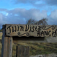 Twin Vista ranch sign