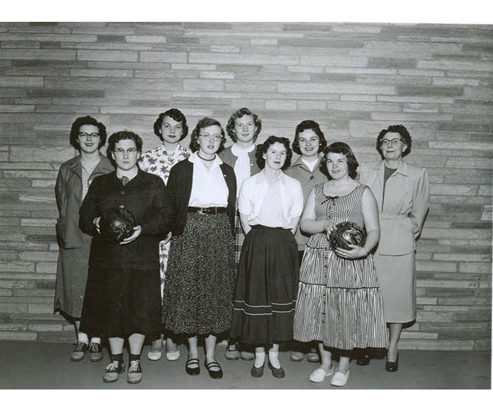 WSC Women's Bowling Club from 1955