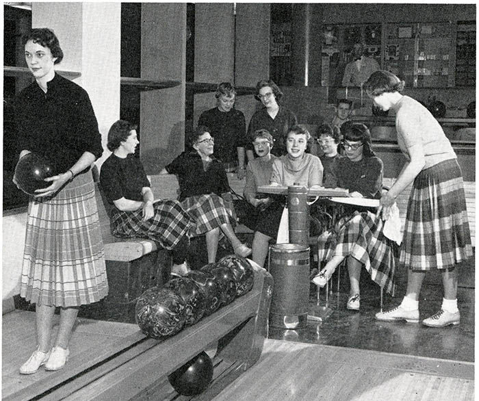 The WSC bowling team in 1959