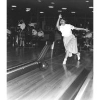 Bowling in a tournament in the CUB, 1959