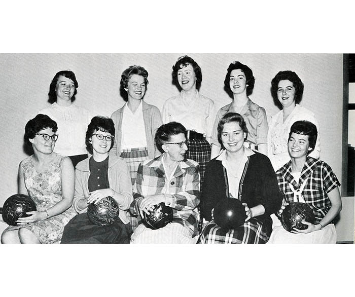 WSC Women's Bowling Team in 1961