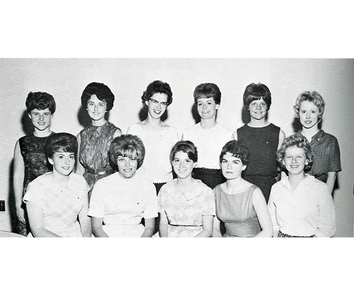 Female members of the WSU Bowling Club in 1963