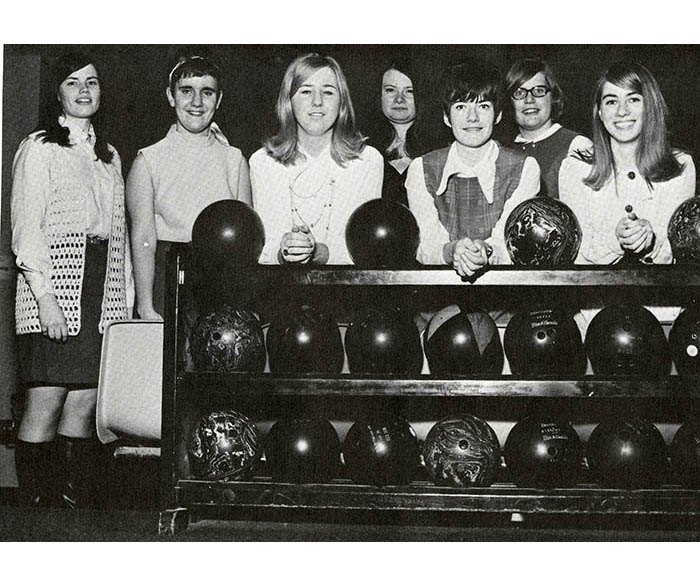 WSU women's bowling club, 1970
