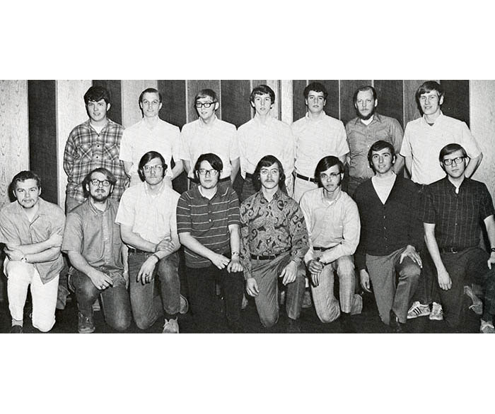 WSU Men's Bowling Team in 1971