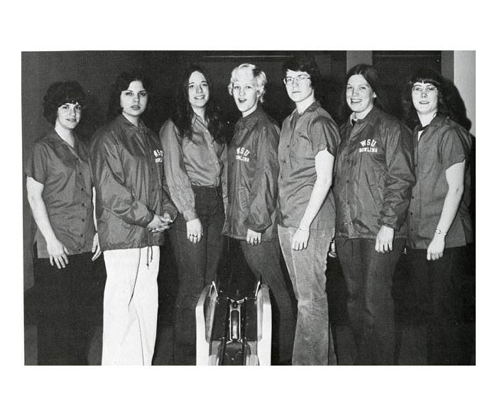 WSU Women's Bowling Team from 1974