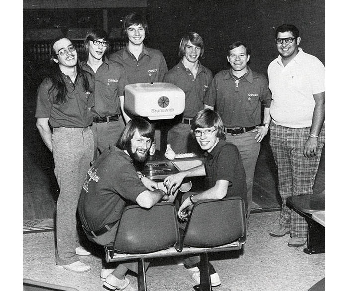 WSU Men's Bowling Team from 1976