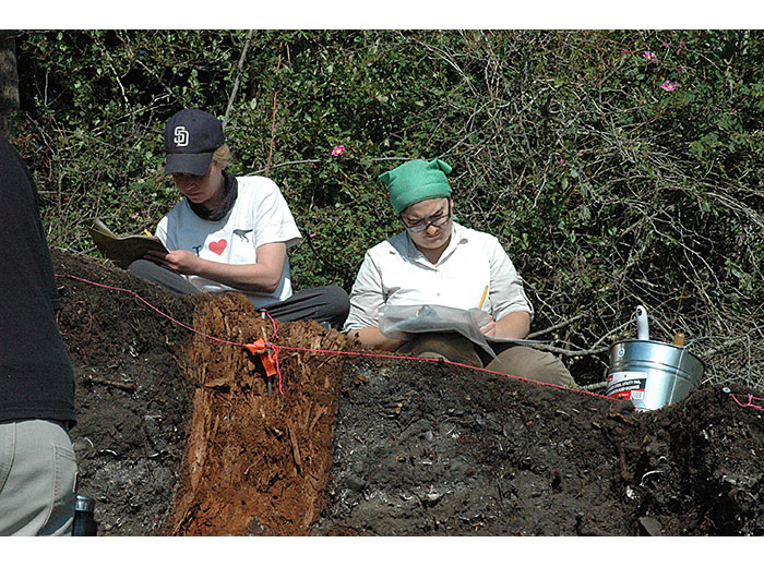 Documenting Galiano excavation