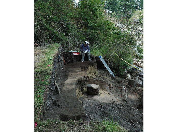 Preparing to bury Galiano site