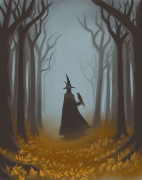 Witch in forest. Courtesy Nate Taylor