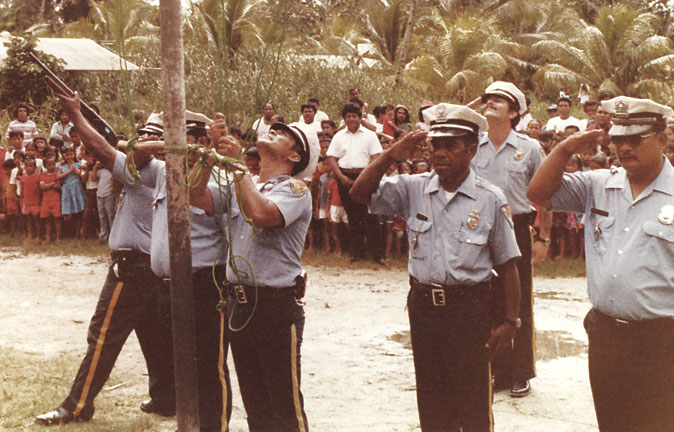 Bryan Vila and police in Micronesia