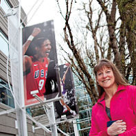 Marcia Steele Hoover '90 at Nike World Headquarters in Beaverton, Oregon. Bill Wagner