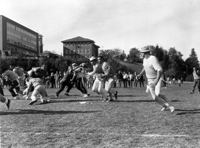 Intramural flag football in 1963 at WSU