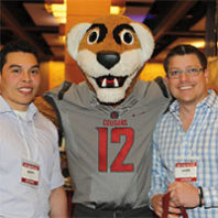 Butch with attendees at CougsFirst!