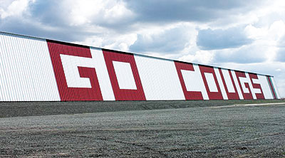The Go Cougs barn owned by Johnson Agriprises