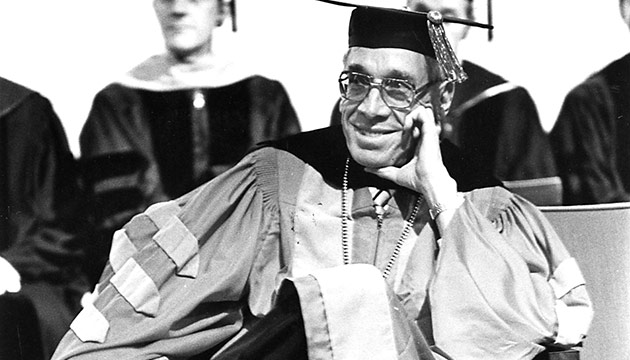 Glenn Terrell in academic regalia