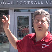 Mike Leach and football building