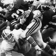 Nicknamed Mr. 3rd Down for his knack of gaining first downs as a running back, Dan Doornink '78 played one season for the New York Giants and seven seasons for the Seattle Seahawks. Al Messerschmidt/AP