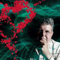 WSU chemistry professor Herbert Hill. Photoillustration with portrait by Robert Hubner