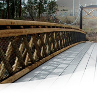 Bridge made with composite materials. Courtesy WSU CMEC