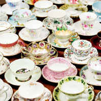 Stevens Hall teacups. Photo Shelly Hanks
