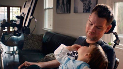 "Gleason appeared in the 2014 Microsoft Super Bowl ad ""Empowering"" (courtesy NFL)"