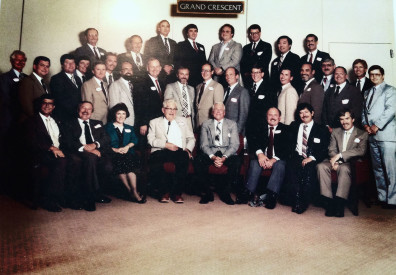 Robert Mott at a gathering of his former students