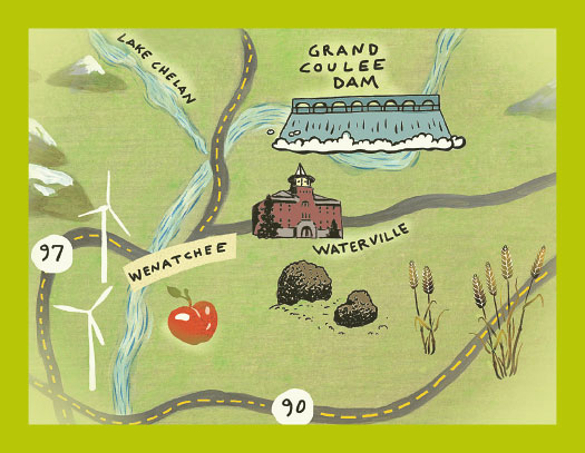waterville map