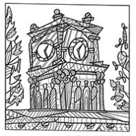 Bryan Hall at WSU coloring page by Tarah Luke
