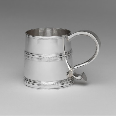 Silver mug made by Koenraet Ten Eyck, Albany, New York c. 1700. Courtesy The Metropolitan Museum of Art.