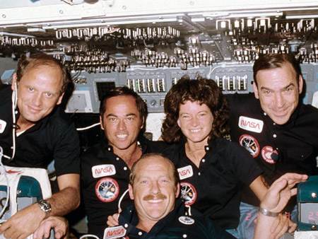 John Fabian and shuttle crew. Courtesy NASA
