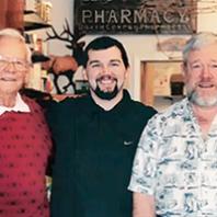 Don Cox '46, Matt Cox '05 D. Pharm., and David Cox '71